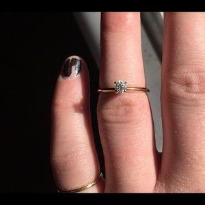 14K Gold 1/4 Carat Round Solitaire Diamond Ring